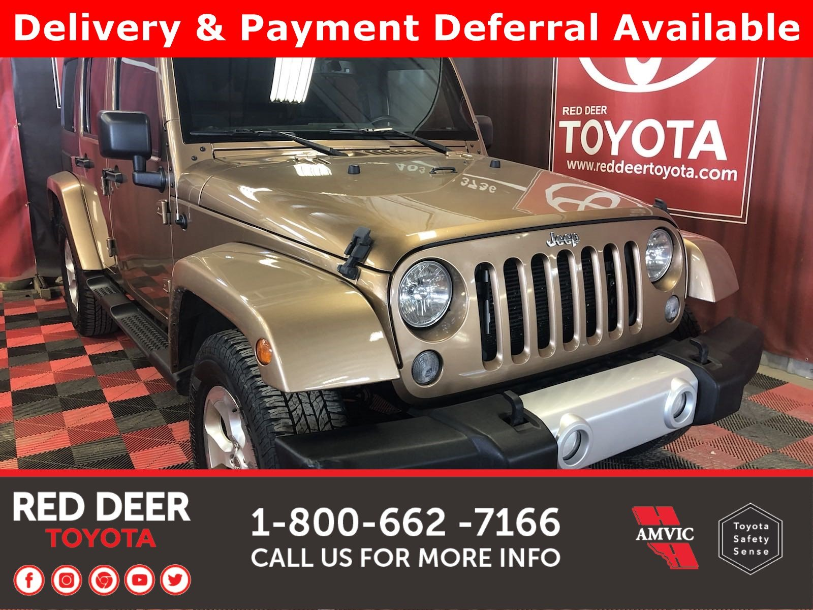 Pre-Owned 2015 Jeep Wrangler Unlimited Sahara -3 PAYMENTS ON US !
