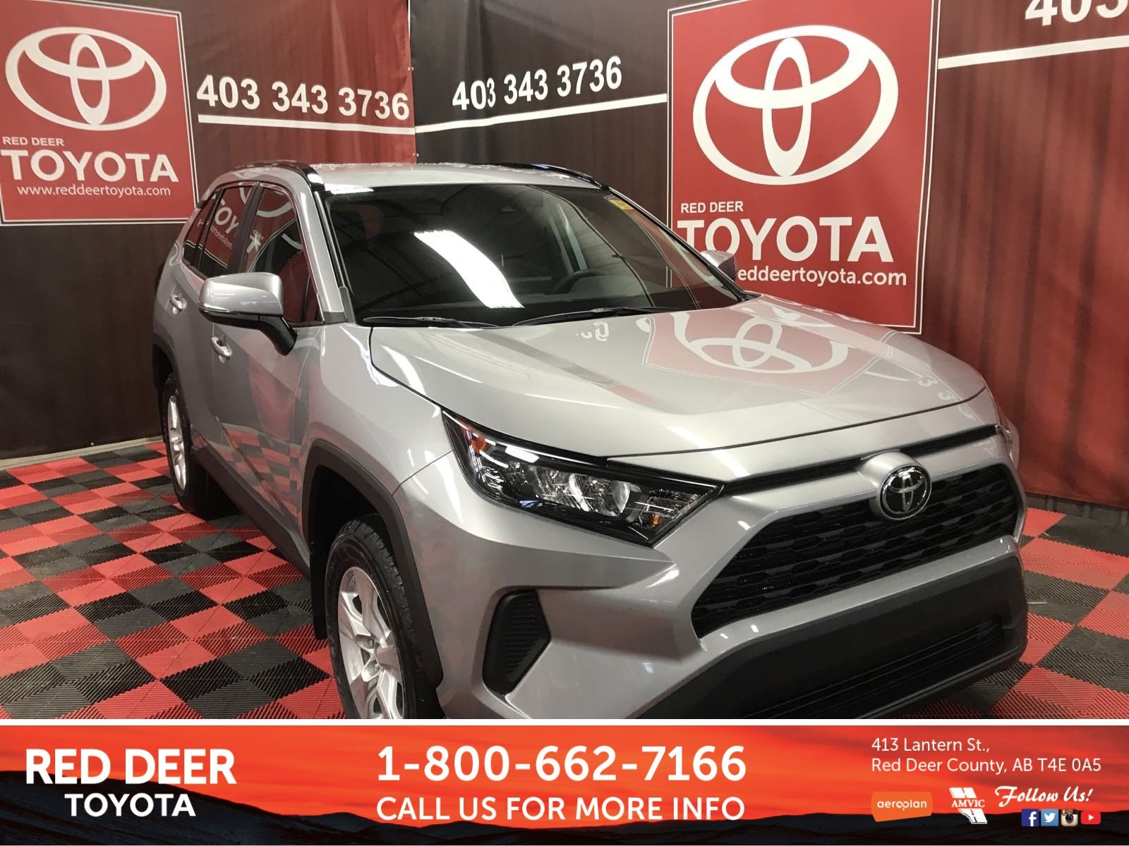 New 2019 Toyota Rav4 Le Sport Utility In Red Deer County K6041
