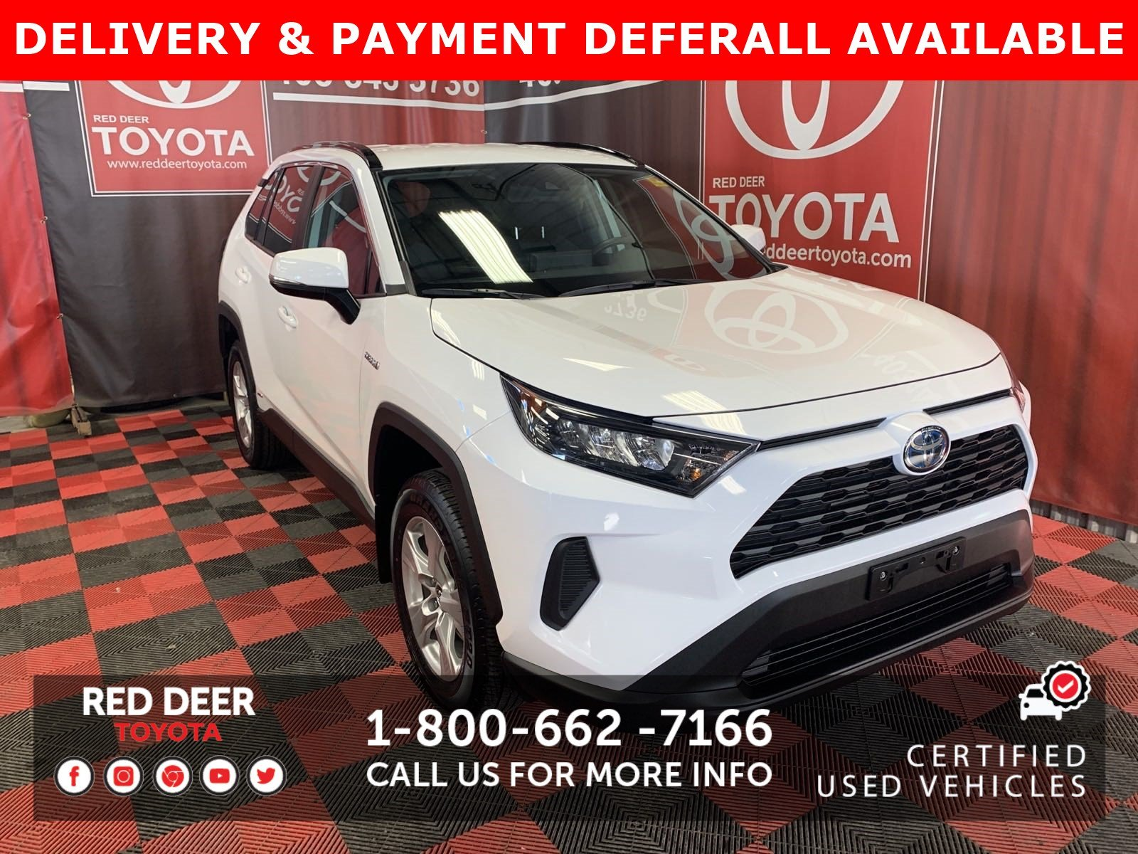 Certified Pre-Owned 2019 Toyota RAV4 Hybrid LE - 3 PAYMENTS ON US !