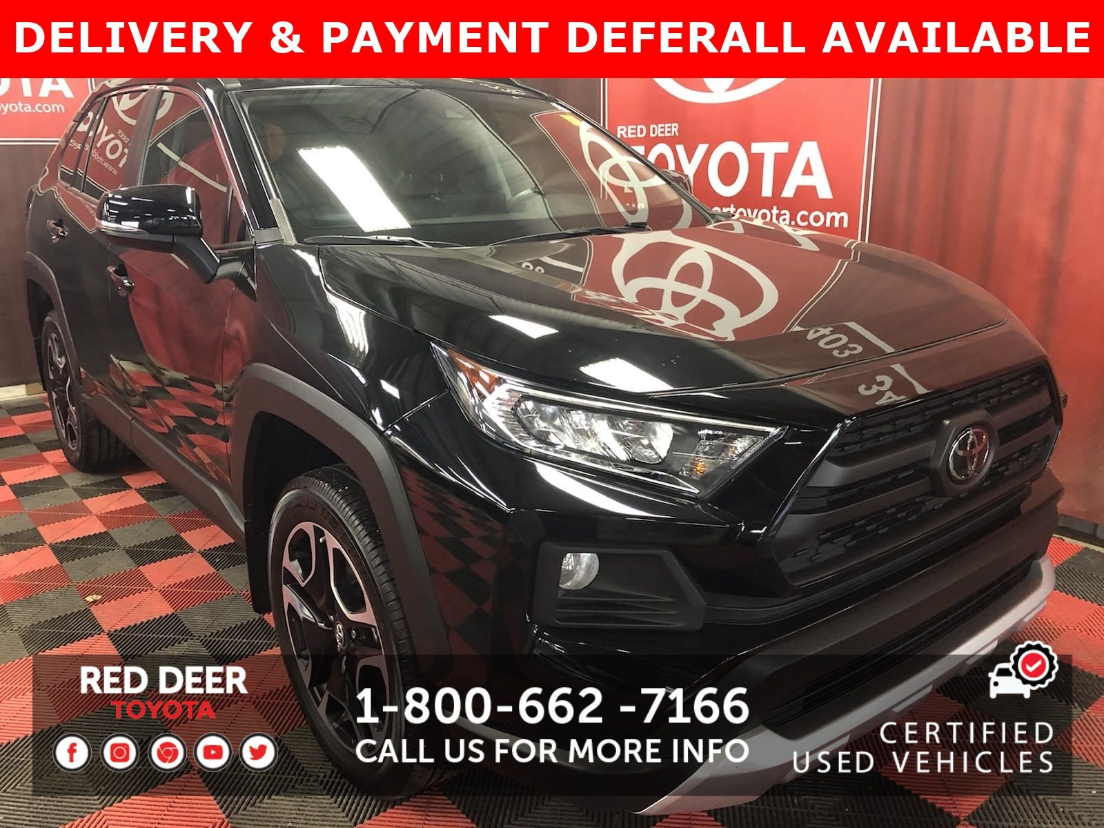 Certified Pre-Owned 2019 Toyota RAV4 Trail 3 PAYMENTS ON US !