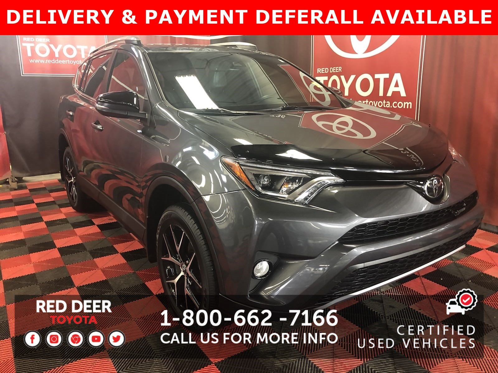 Certified Pre-Owned 2017 Toyota RAV4 SE - SAVE THE GST!