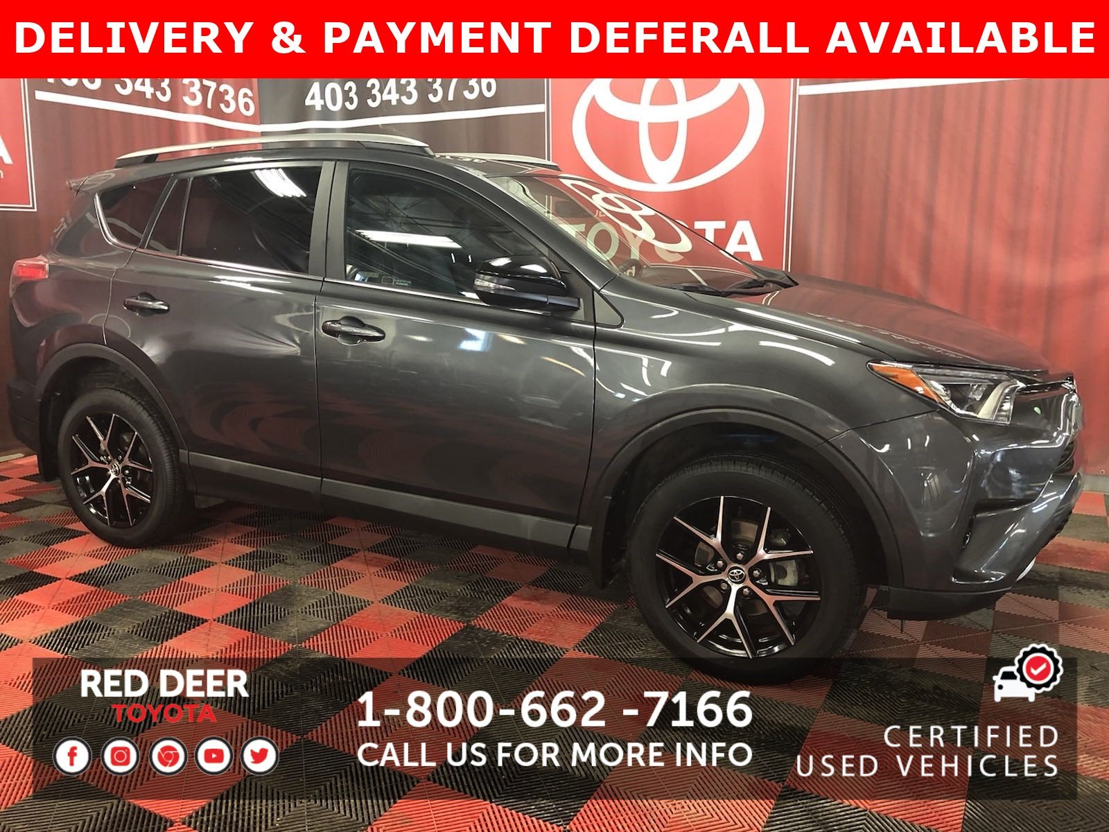 Certified Pre-Owned 2018 Toyota RAV4 SE - 3 PAYMENTS ON US !