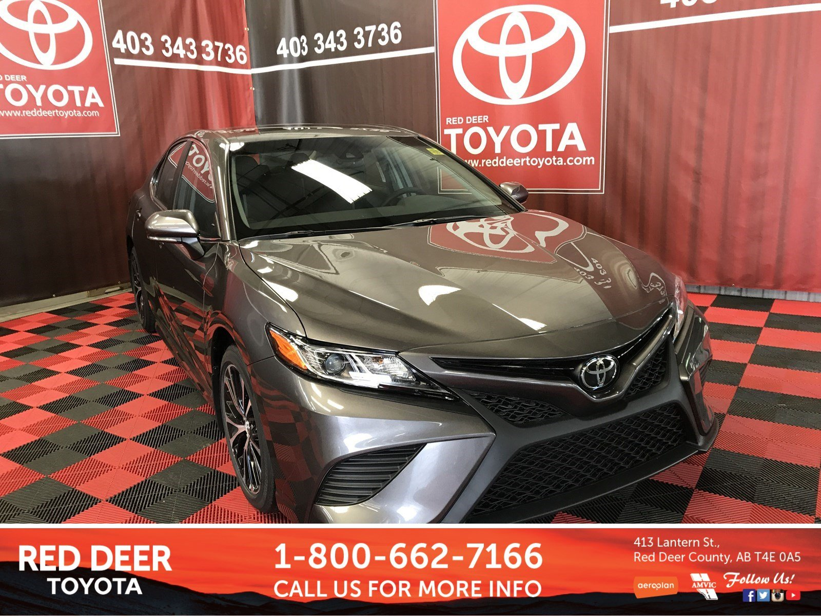 Pre Owned 2018 Toyota Camry Se 4dr Car In Red Deer County J3044