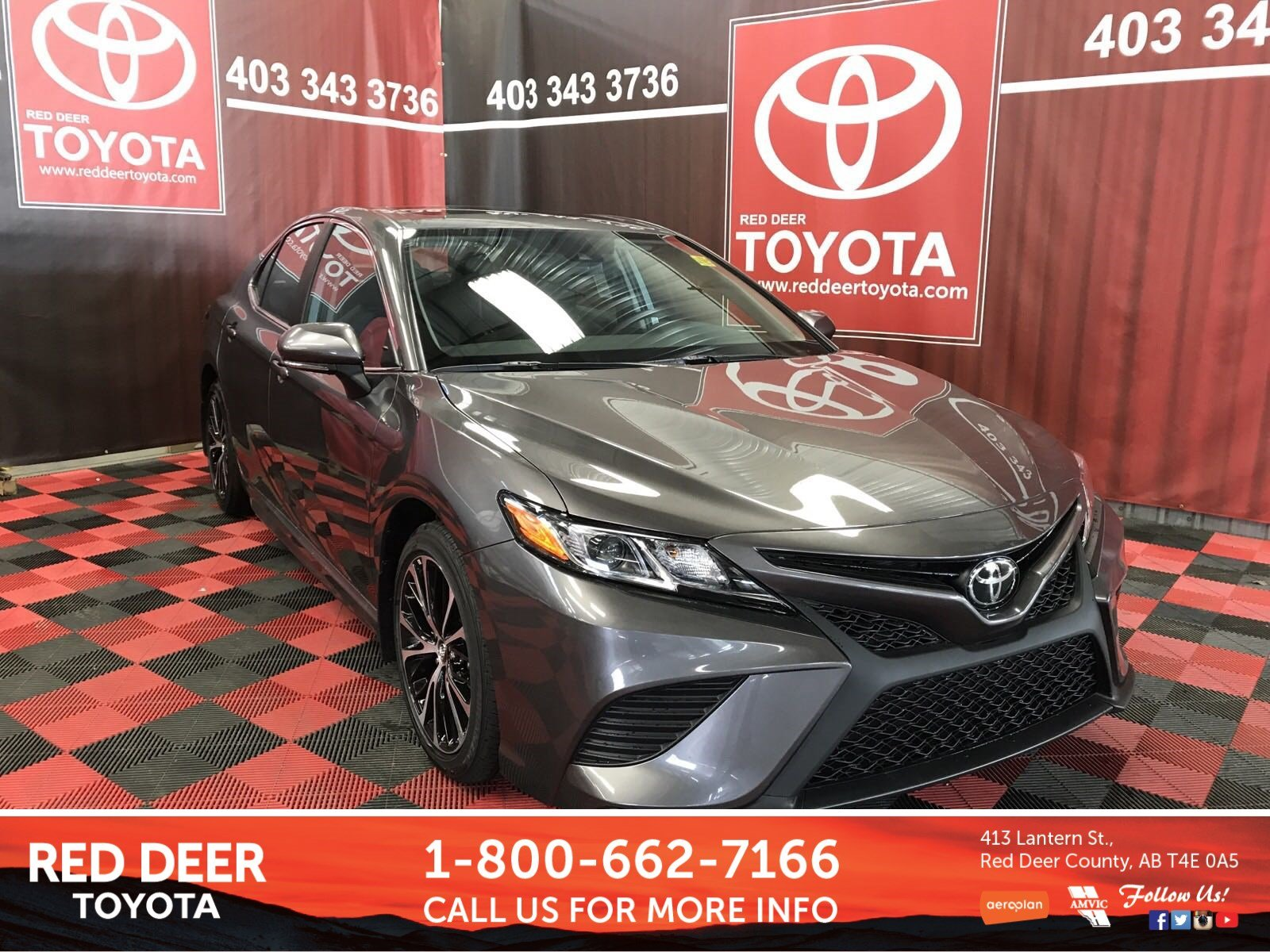 New 2019 Toyota Camry Se 4dr Car In Red Deer County K3006 Red