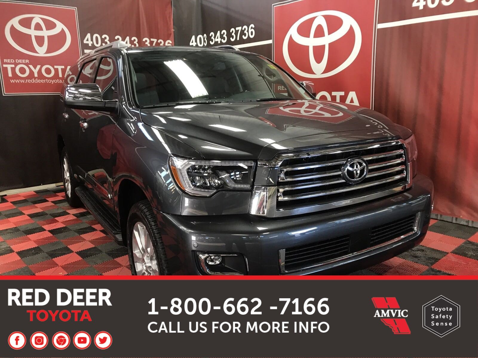 New 2019 Toyota Sequoia Platinum With Navigation & 4WD