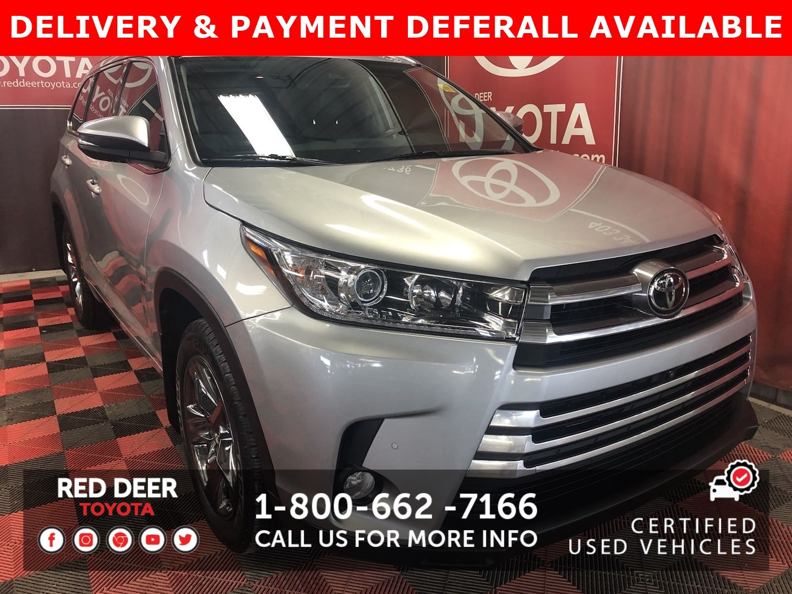 Certified Pre-Owned 2018 Toyota Highlander Limited - 3 PAYMENTS ON US !