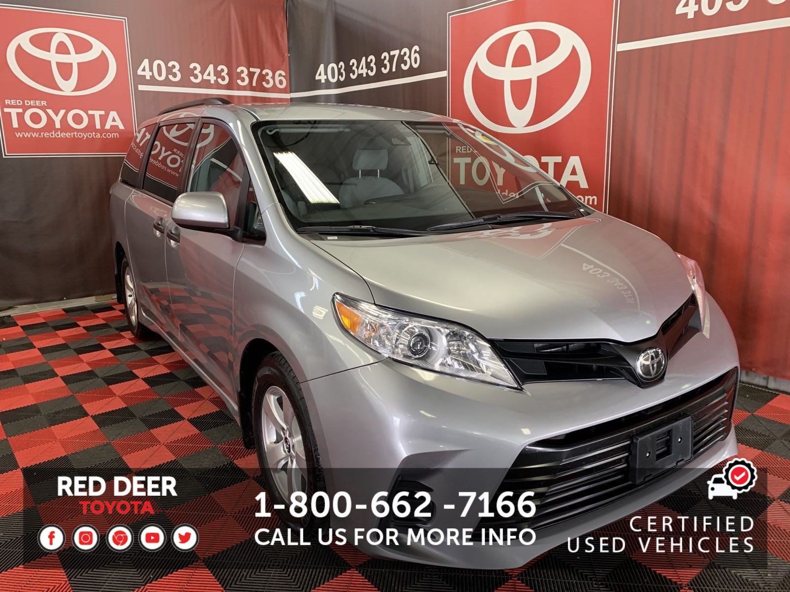 Certified Pre-Owned 2018 Toyota Sienna LE 7-PASS FWD FWD Mini-van, Passenger