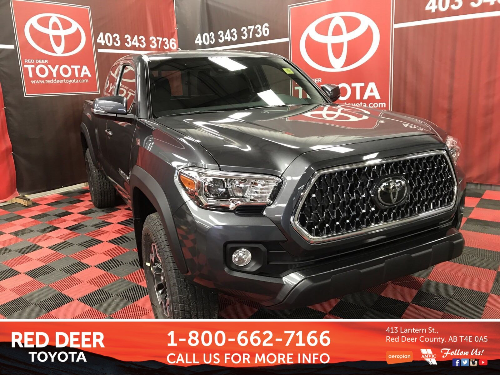 New 2019 Toyota Ta a TRD f Road 6spd Manual Access Cab in Red
