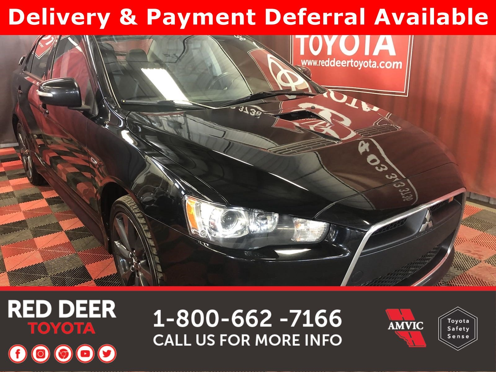 Pre-Owned 2015 Mitsubishi Lancer Ralliart Premium 3 PAYMENTS ON US !