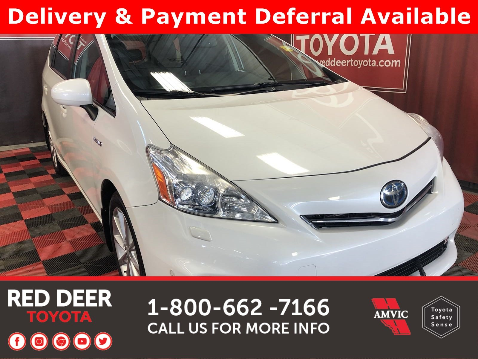 Pre-Owned 2012 Toyota Prius v 5DR HB -3 PAYMENTS ON US !