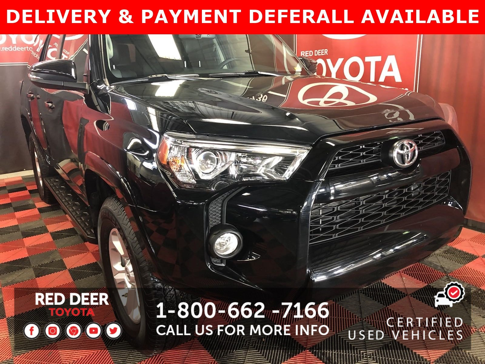 Certified Pre-Owned 2019 Toyota 4Runner SR5 7 PASSENGER - 3 PAYMENTS ON US !