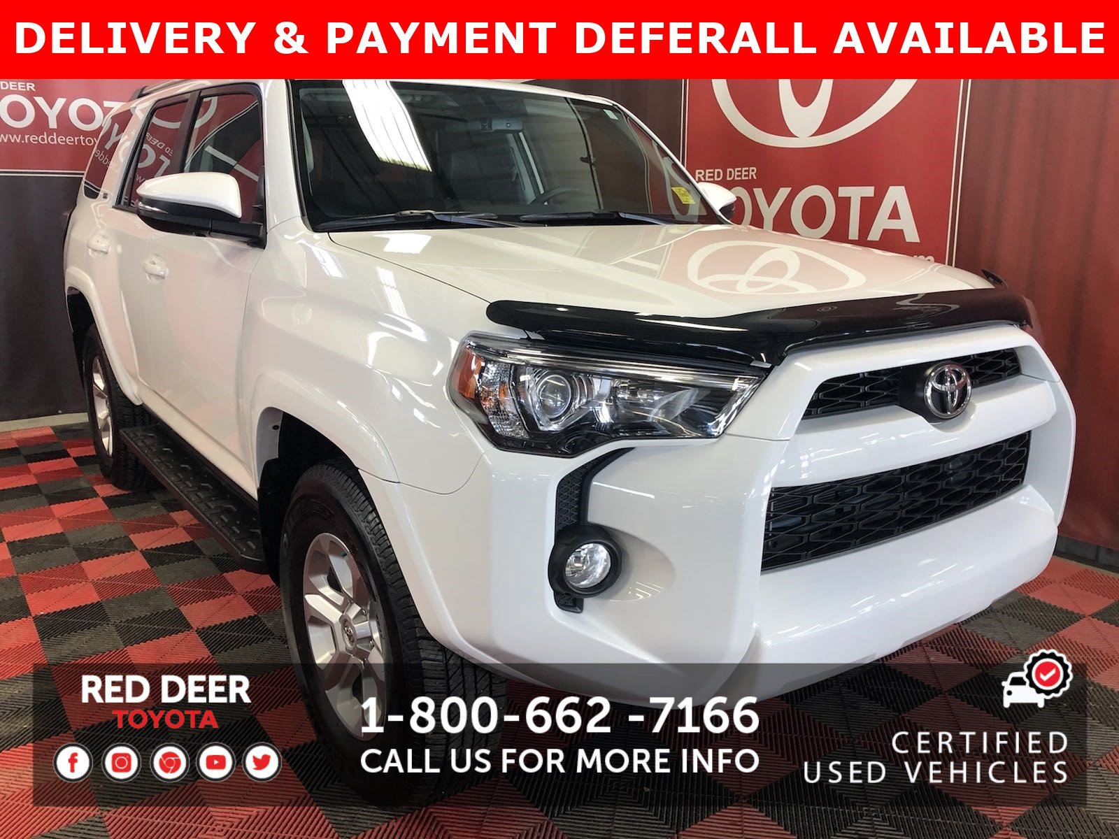 Certified Pre-Owned 2019 Toyota 4Runner SR5 - 3 PAYMENTS ON US !