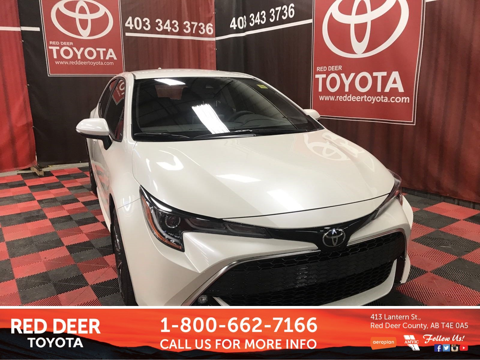 New 2019 Toyota Corolla Hatchback Xse Hatchback In Red Deer County