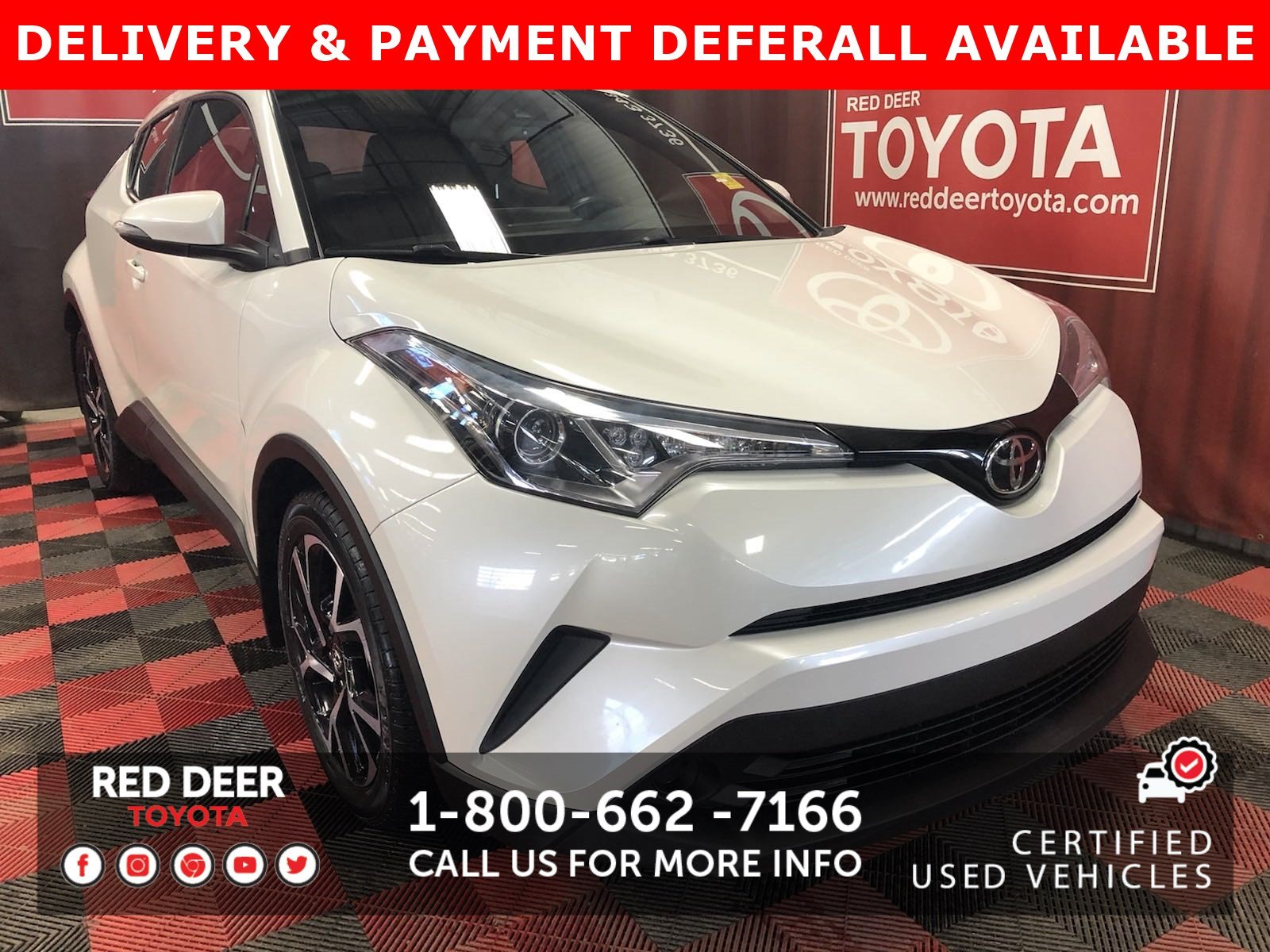 Certified Pre-Owned 2018 Toyota C-HR XLE PREMIUM - 3 PAYMENTS ON US !