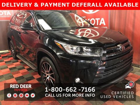 Certified Pre-Owned 2018 Toyota Highlander SE - 3 PAYMENTS ON US !